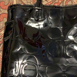 Coach Black Patent Leather Tote